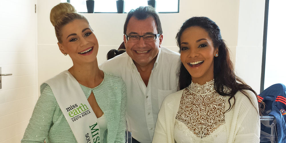 Pictured from left to right: Ilze Saunders - Miss Earth South Africa, Adi Hasenohrl - Owner of Sea Star Cliff & Liesl Laurie - Miss South Africa 2015